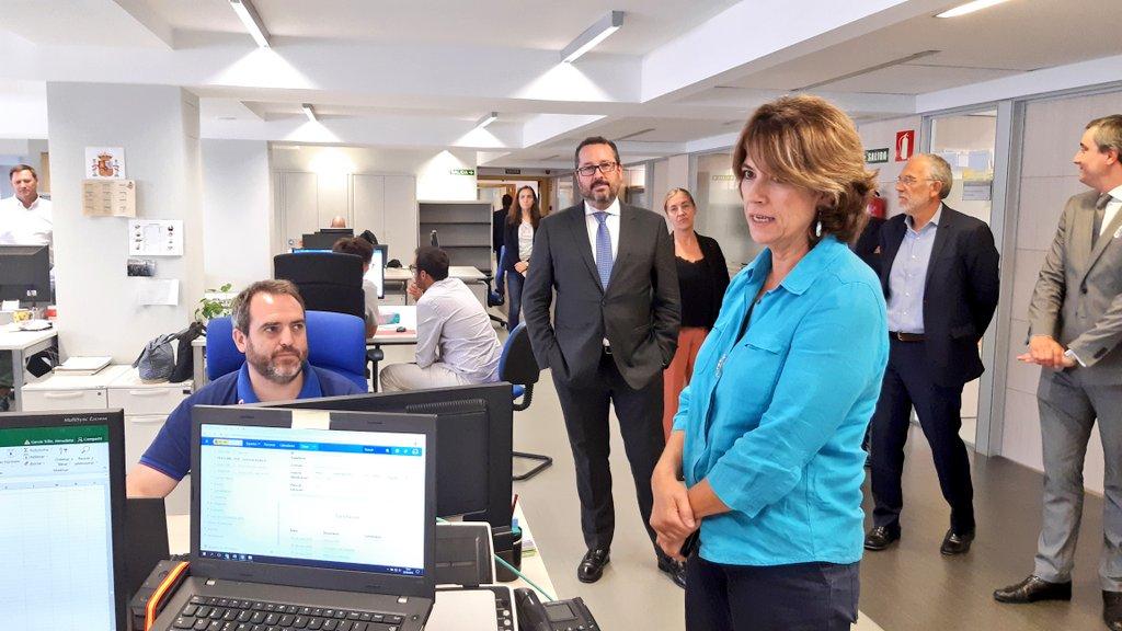 Visita de la Ministra de Justicia a la Subdirección General de Nuevas Tecnologías de la Justicia
